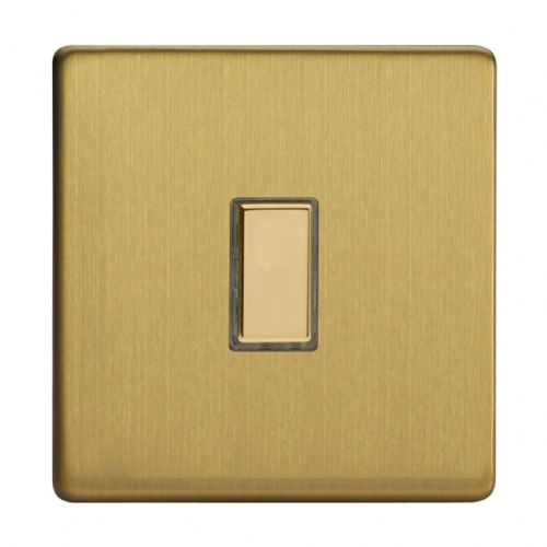 Varilight JDBES001S Screwless Brushed Brass 1 Gang Touch Dimming Slave (use with V-Pro Master)